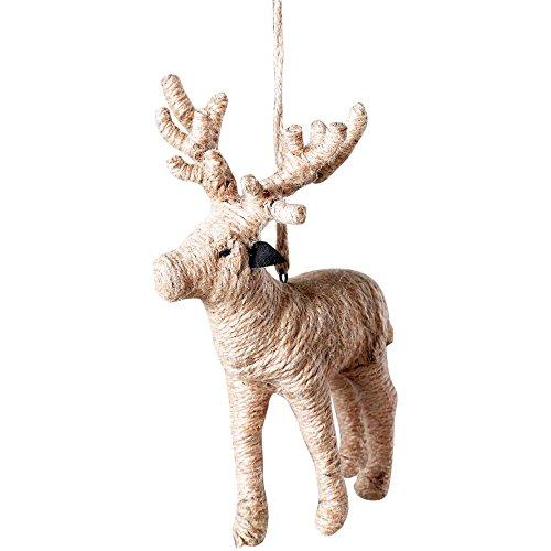 Sage & Co. XAO14710 Jute Reindeer Ornament