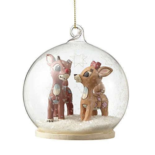 Rudolph Traditions by Jim Shore, Rudolph and Clarice Dome Orn