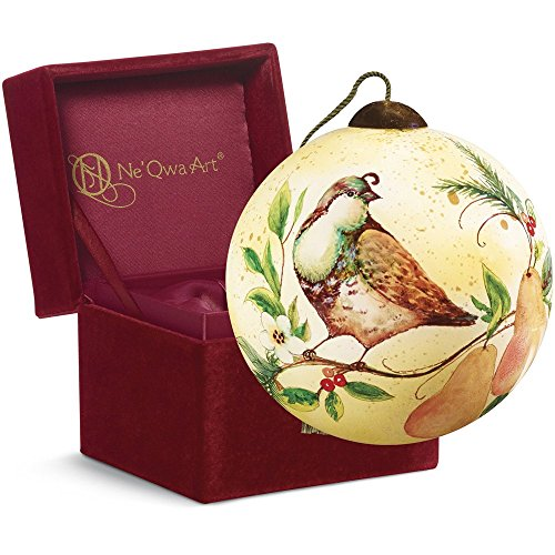 Precious Moments Christmas Gift, Susan Winget Partridge and Pears, Glass, 7161140