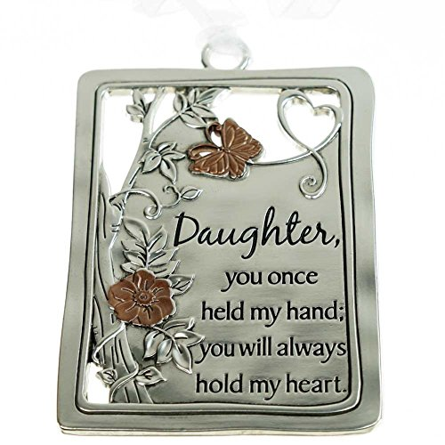 Silver Tree Ornament/Car Charm – Daughter, … you will always hold my heart