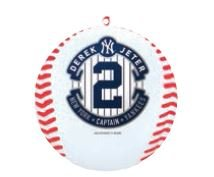New York Yankees Derek Jeter #2 -The Captain- Commemorative 2014 Christmas Ornament MLB Baseball- 2 5/8″