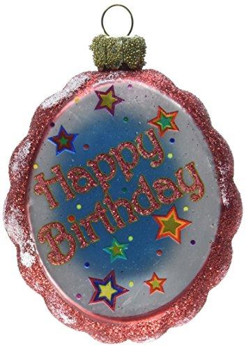 G. Debrekht Happy Birthday Glass Ornament