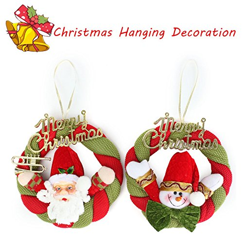 Santa Claus Christmas Wreath Ornaments Festival Party Xmas Tree Hanging Decoration
