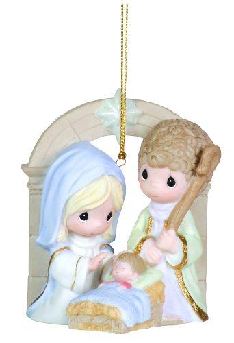 """Precious Moments Nativity Ornament """"Unto Us A Child Is Born"""""""