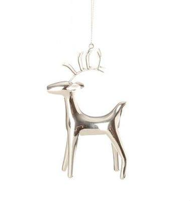 4″ Modern Elegance Silver Standing Reindeer Christmas Ornament