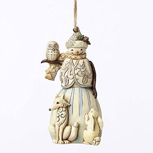 Jim Shore Heartwood Creek, Woodland Snowman Ornament