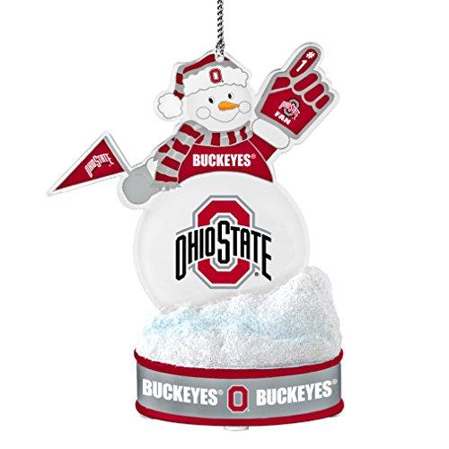 NCAA Ohio State Buckeyes LED Snowman Ornament, White, 3.5″