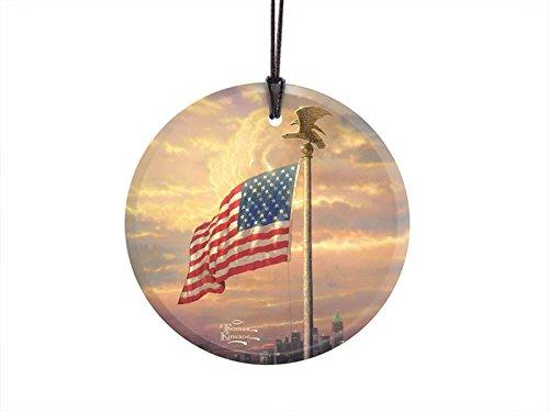 Thomas Kinkade Light of Freedom StarFire Hanging Glass Print