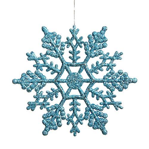 Vickerman 21448 – 4″ Turquoise Glitter Snowflake Christmas Tree Ornament (24 pack) (M101412)