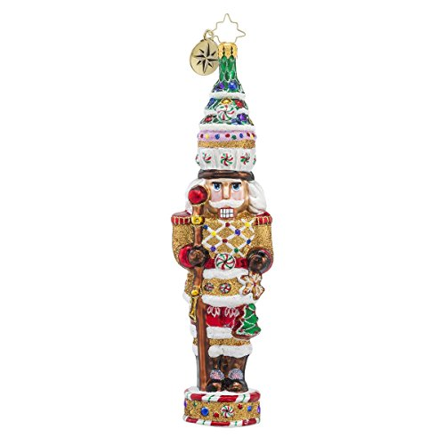 Christopher Radko Candy Cracker Nutcracker Candy & Gingerbread Themed Glass Christmas Ornament – 7.5″h.