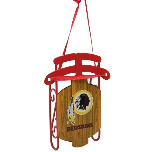 Washington Redskins Official NFL 3.5″ Metal Sled Christmas Ornament by Topperscot by Topperscot
