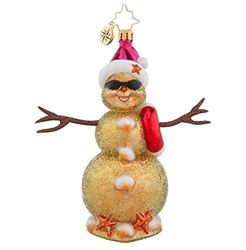 Christopher Radko Glass Sandy! Snowman Christmas Ornament #1018017