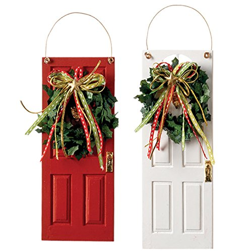 Two Decorated Front Door Ornaments