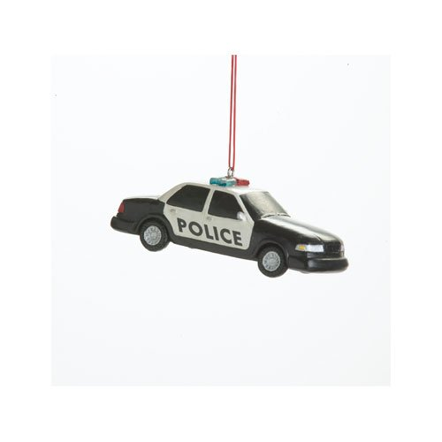 Police Car Resin Hanging Christmas Ornament – Size 3.5 in.