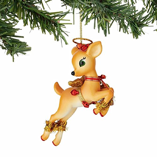 "Department 56 Jolly Reindeer Tales ""Blitzen"" Ornament"