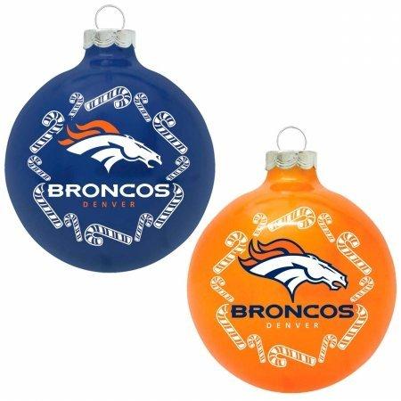 The Grill Topper 102-DENBRO NFL – Home and Away Glass Ornament Set, Denver Broncos