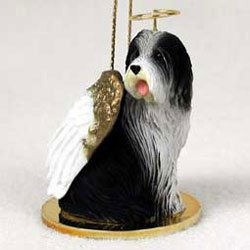 Christmas Ornament: Bearded Collie