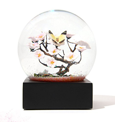 Sudapapa 100mm Snow Globe with Free Stand Waterglobe Cool Globe Happiness Tree