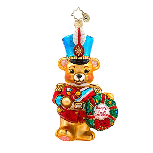 Christopher Radko Marching Baby Bear Christmas Ornament