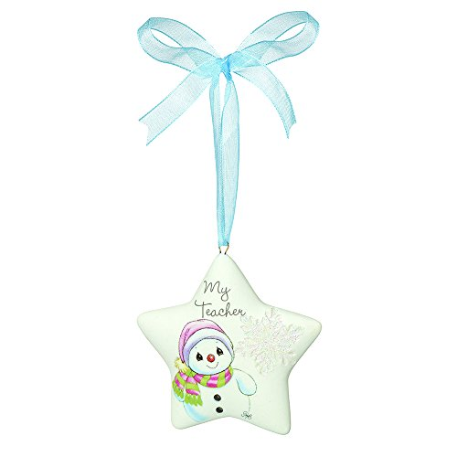 "Precious Moments, Christmas Gifts, ""My Teacher"", Porcelain Ornament, #161051"