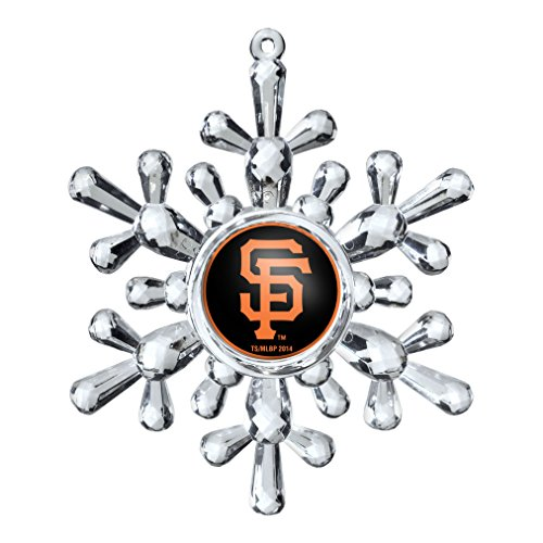 MLB San Francisco Giants Traditional Snowflake Ornament, 4.5″, Clear
