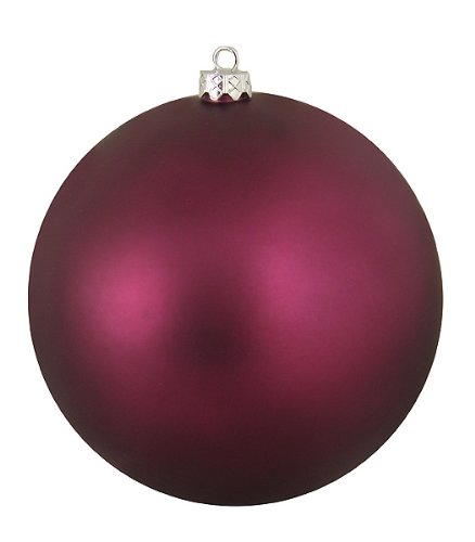 Vickerman Matte Purple Passion Commercial Shatterproof Christmas Ball Ornament, 6″