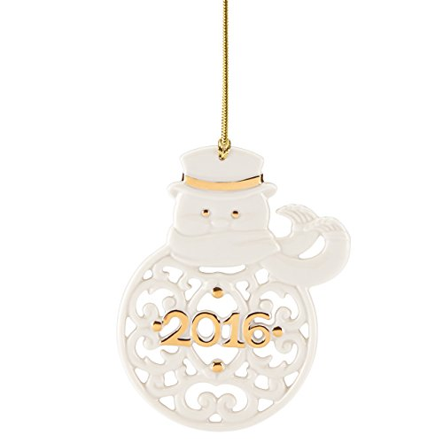Lenox 2016 A Year to Remember Snowman Ornament