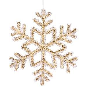 Vickerman 8″ Gold Crystal Snowflake