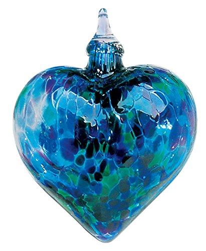 Glass Eye Studio Blue Chip Classic Heart Ornament