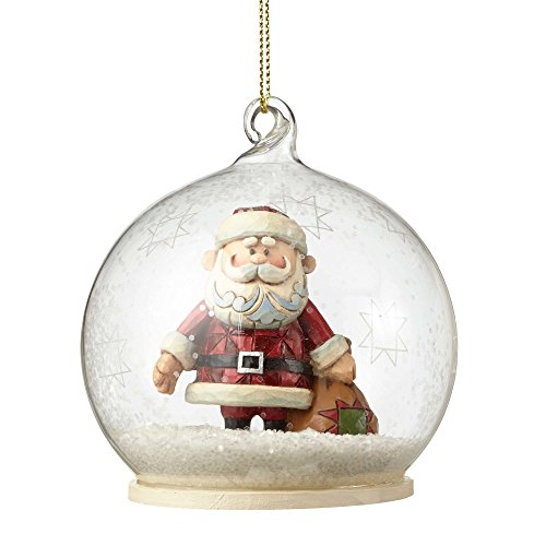 Rudolph Traditions by Jim Shore, Santa Dome Ornament