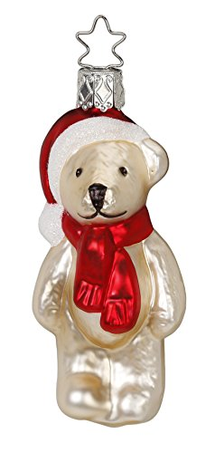 Handmade Teddy, #1-025-16, from the 2016 Christmas Visions Collection by Inge-Glas Manufaktur; Gift Box Included