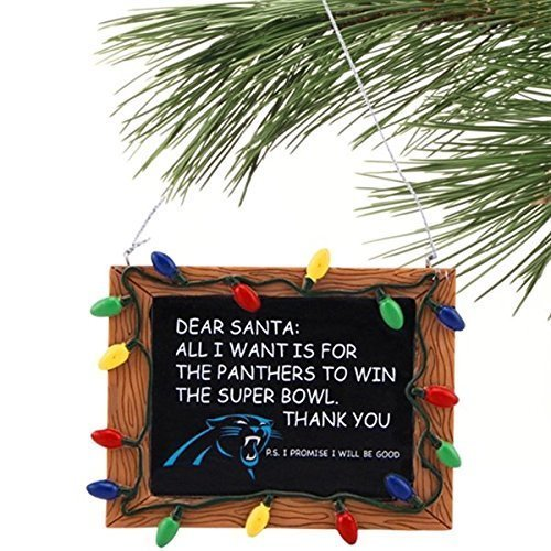 Carolina Panthers Official NFL 3 inch x 4 inch Chalkboard Sign Christmas Ornament by Forever Collectibles