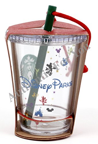 Disney Parks Exclusive Starbucks Clear Cold Cup with Straw 3″ Christmas Tree Ornament