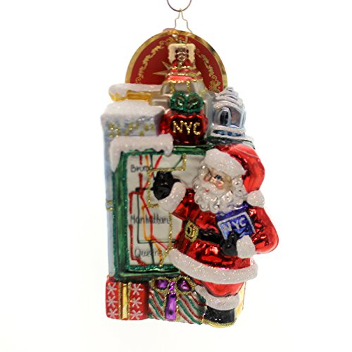 Christopher Radko Getting Around Town Destination Santa Claus Christmas Ornament