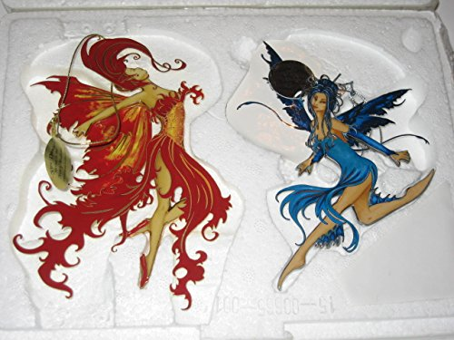 "Fairy Illusions ""Fire Dance"" and ""Water Spirit"" Ornaments by Amy Brown"