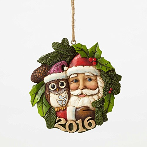 Jim Shore Heartwood Creek, Santa/Owl Dated 2106 Ornament