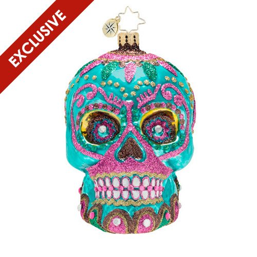 Exclusive Christopher Radko La Calavera Especial Limited Edition Skull Ornament