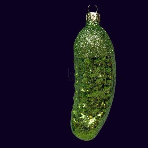 Kurt Adler Noble Gems Glitter Pickle Ornament by Kurt Adler