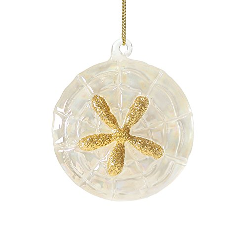 Department 56 Gone to The Beach Glass Sand Dollar Ornament