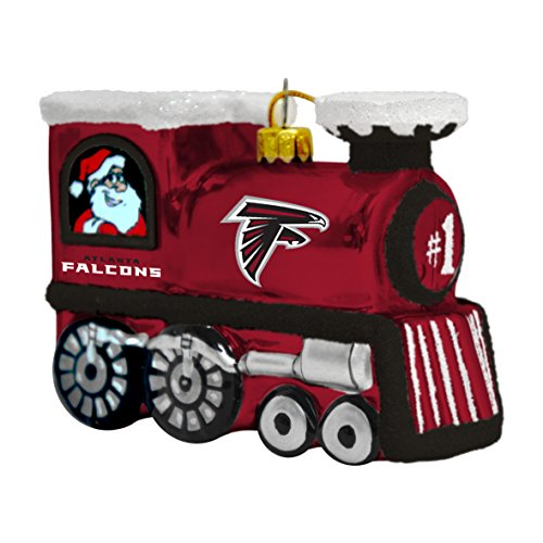 NFL Atlanta Falcons Train Ornament, 3.75″, Red
