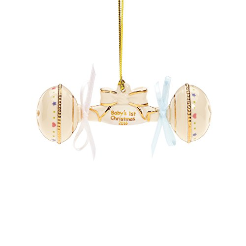 Lenox 2016 Baby's First Christmas Rattle Ornament