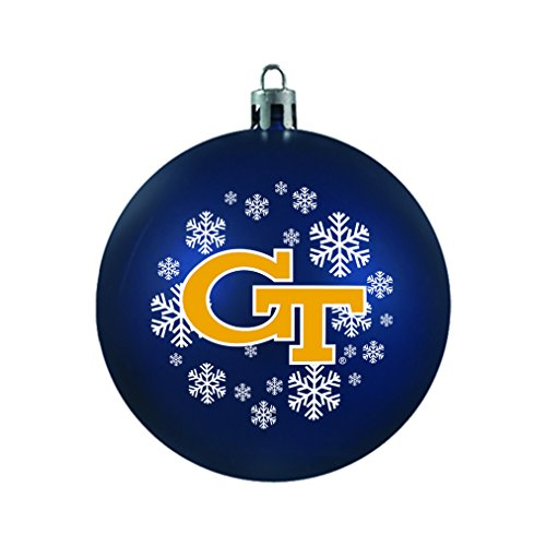 NCAA Georgia Tech Yellow Jackets Shatterproof Ball Ornament, 3.125″, Black