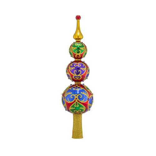 Christopher Radko Majestic Jewel Finial Christmas Tree Topper Ornament