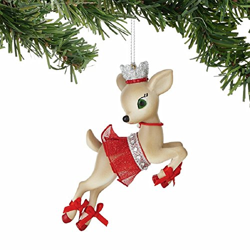 "Department 56 Jolly Reindeer Tales ""Cupid"" Ornament"