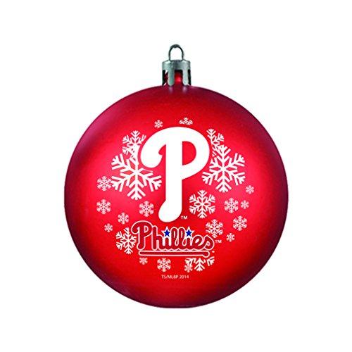 MLB Philadelphia Phillies Shatterproof Ball Ornament, 3.125″, Red
