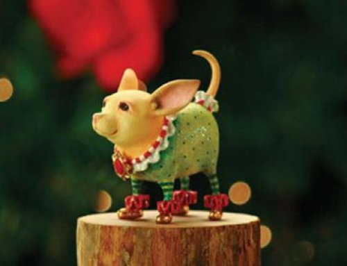Patience Brewster Chihuahua Ornament – Krinkles Christmas Décor New 08-30390
