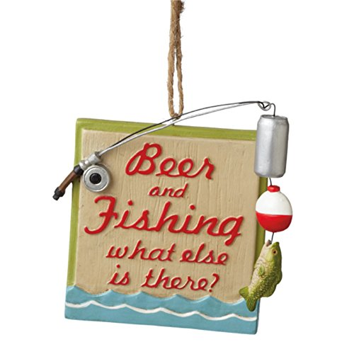 Beer and Fishing What Else Is There Christmas Ornament