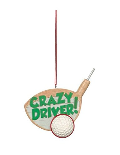 CRAZY DRIVER Funny Golf Christmas Tree Ornament