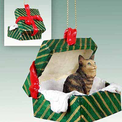 Maine Coon Cat Gift Box Christmas Ornament Brown – DELIGHTFUL!
