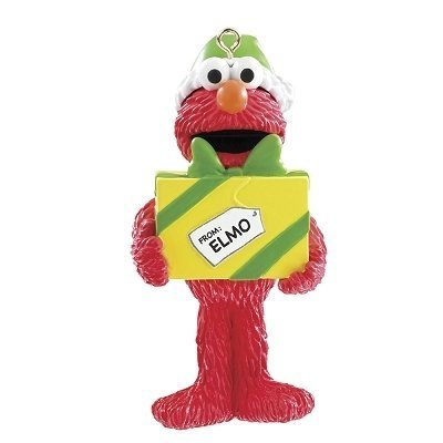 Carlton Cards Heirloom Sesame Street Elmo Holding Yellow Present Christmas Ornament by Carlton Cards